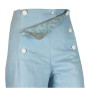 Sailor Pants Canvas - Sky Blue Flower