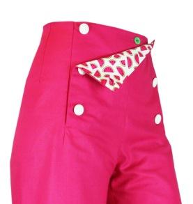 Sailor Pants Canvas - Bright Pink Melon