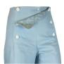 Sailor Pants Canvas - Sky Blue Flower