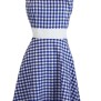 Annika Ginghem Dress - Blue Gingham