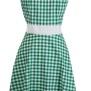 Annika Ginghem Dress - Green gingham