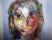 19 Ansikte, akvarell,akryl