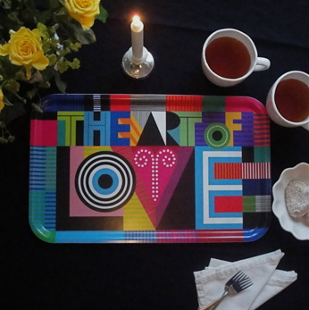 The Art of Love - bricka - The art of love - 53x32 cm