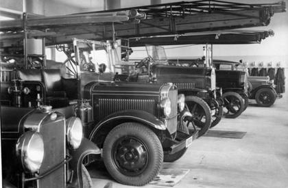 Vagnhallen på Lundby 1938