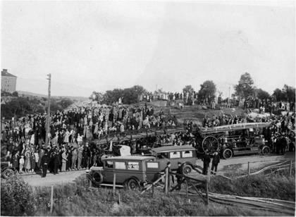 1931 vid Hanssons Pyrotekniska fabrik där tre brandmän omkom (Bildarkivet)
