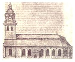Göteborgs Domkyrka före branden 1802