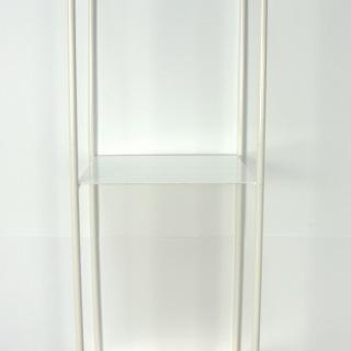 1731V Hylla 2 plan vitmålad smide 43X15X15 cm