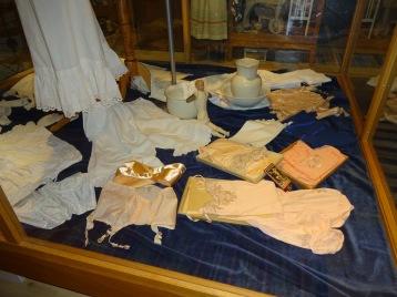 Utställning av underkläder från förr. Foto Birgitta Johannesson