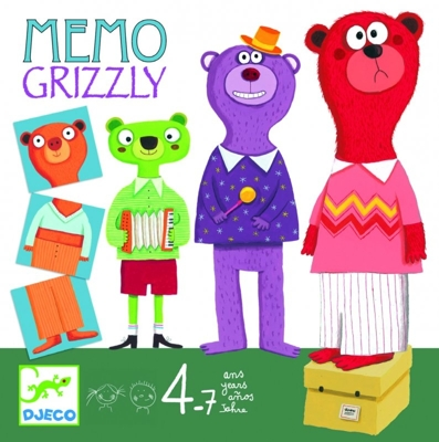 Djeco Board Games Memo Grizzly - Djeco Board Games Memo Grizzly