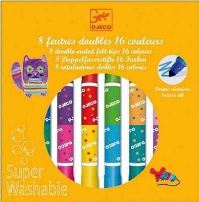 Djeco Twins Washable Markers - Djeco Twins Washable Markers