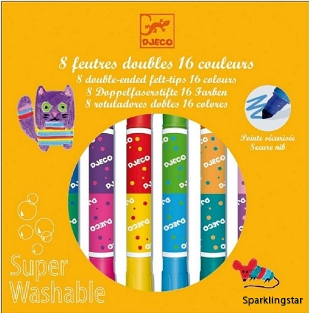 Djeco Twins Washable Markers