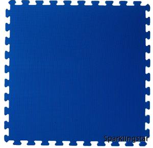 pusselmatta blå