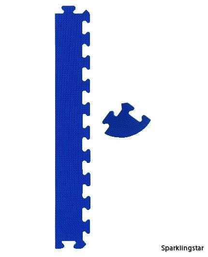 pusselmatta kantset blå