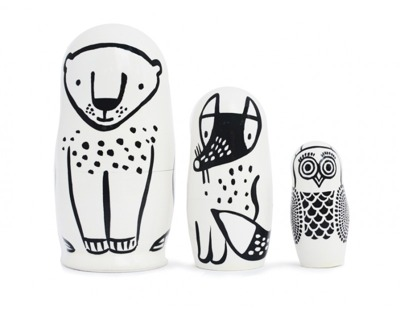 Wee Gallery Set of 3 Nesting Dolls (Forest) - Wee Gallery Set of 3 Nesting Dolls (Forest)