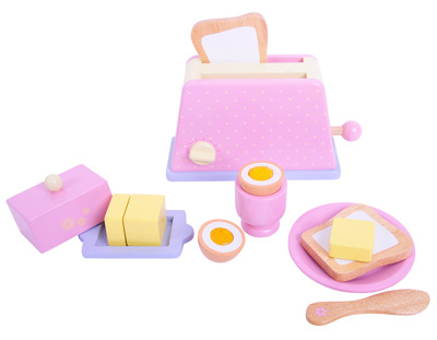 BigJigs Candy Floss Breakfast Set - BigJigs Candy Floss Breakfast Set