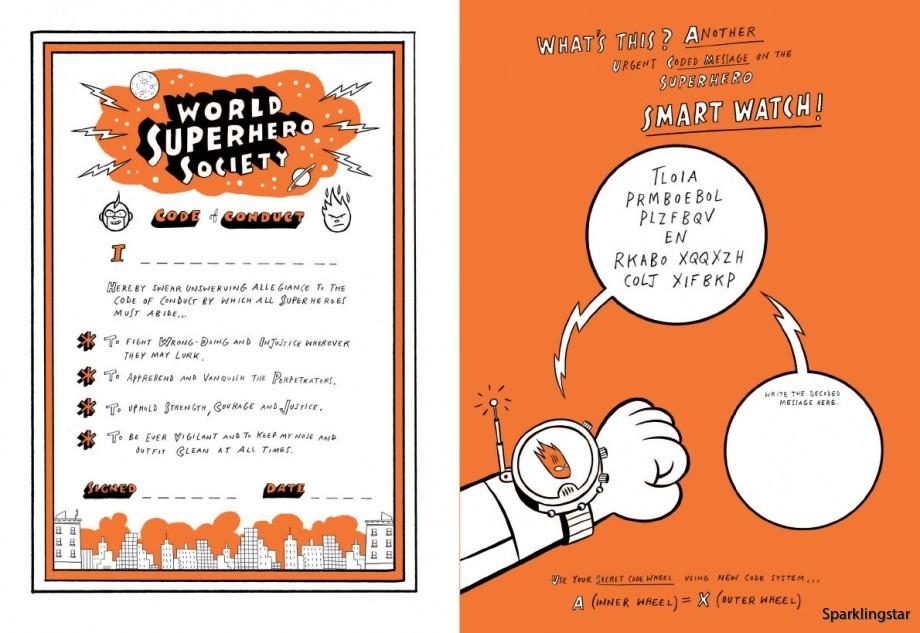 The Super Book for Superheroes (Målarbok)