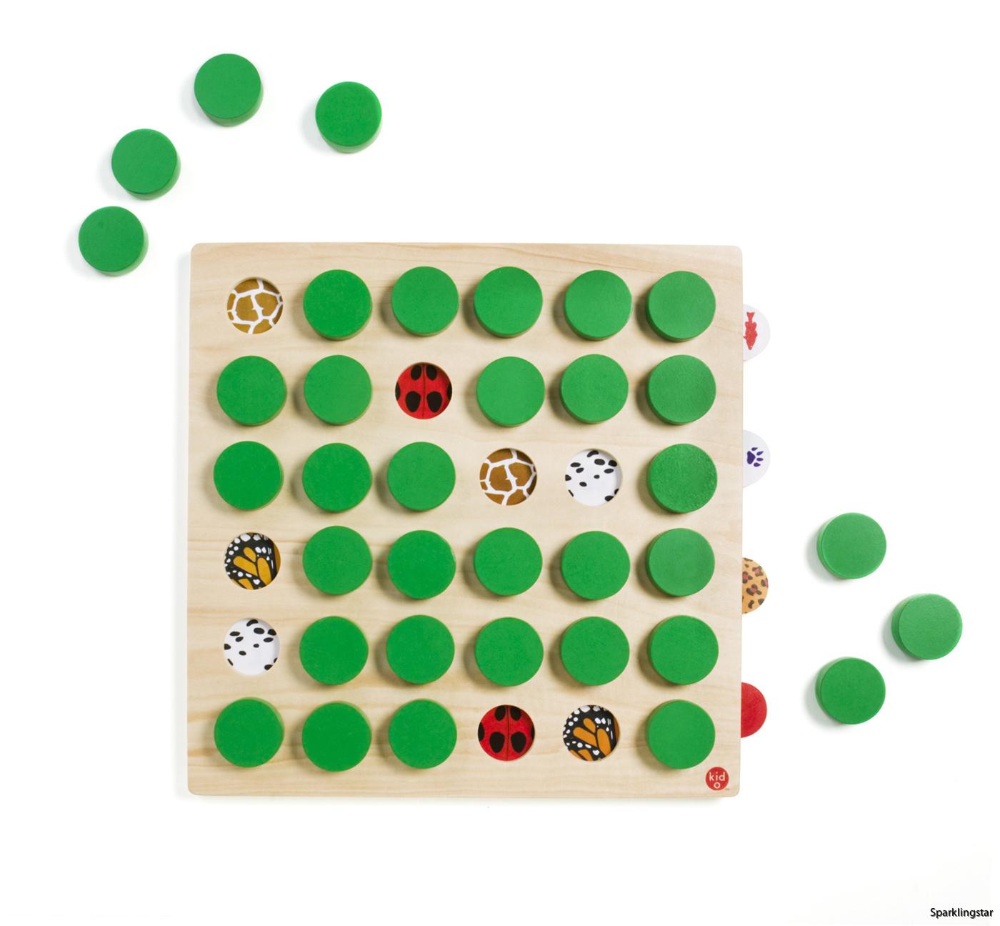 Kid O Memo Match 36 Memory Spel I Trä