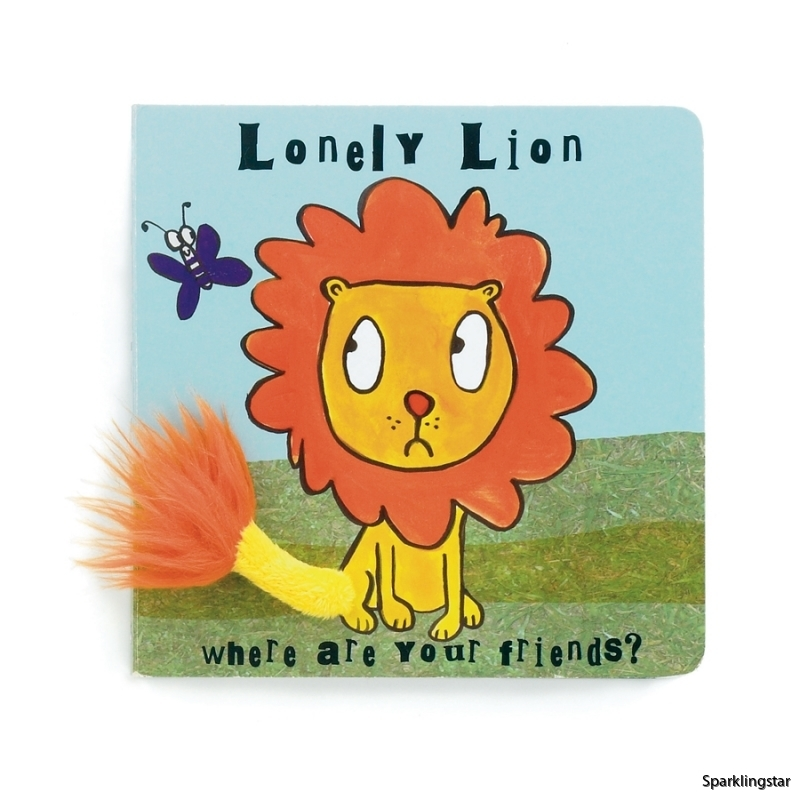 Jellycat Lonely Lion Board Book
