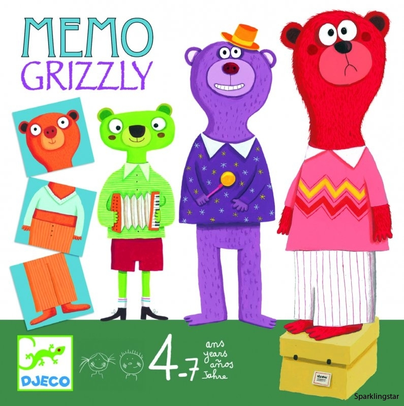 Djeco Board Games Memo Grizzly