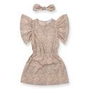 How to Kiss-a Frog Celeste Dress Beige Speckle - How to Kiss-a Frog Celeste Dress Beige Speckle ( Storlek 6 år )