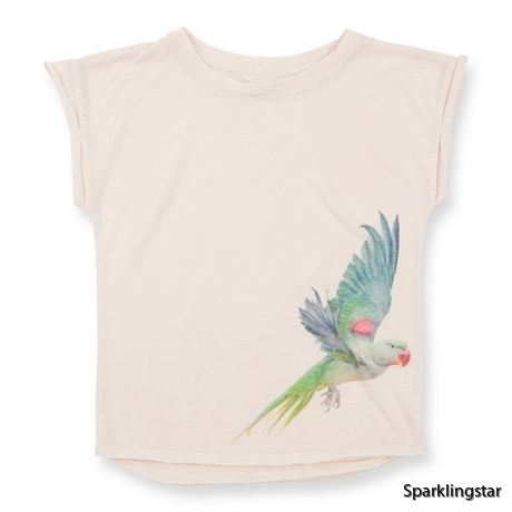 How to Kiss-a Frog Cut T Parrot Off White