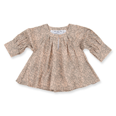 How to Kiss-a Frog Electra Blouse Beigespeckle - How to Kiss-a Frog Electra Blouse Beigespeckle ( Storlek 6 år )