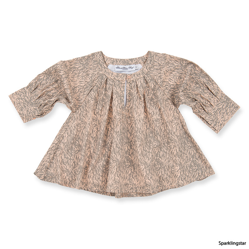 How to Kiss-a Frog Electra Blouse Beigespeckle