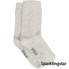 Wheat Socks Plain Melange Grey