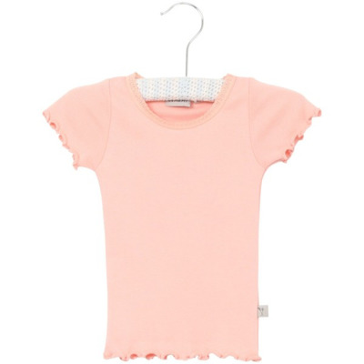 Wheat Rib T-shirt Lace Blossom - Wheat Rib T-shirt Lace Blossom ( Storlek 4 år )