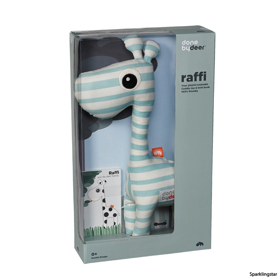 done by deer Soft Toy Raffi + Look Book Blue