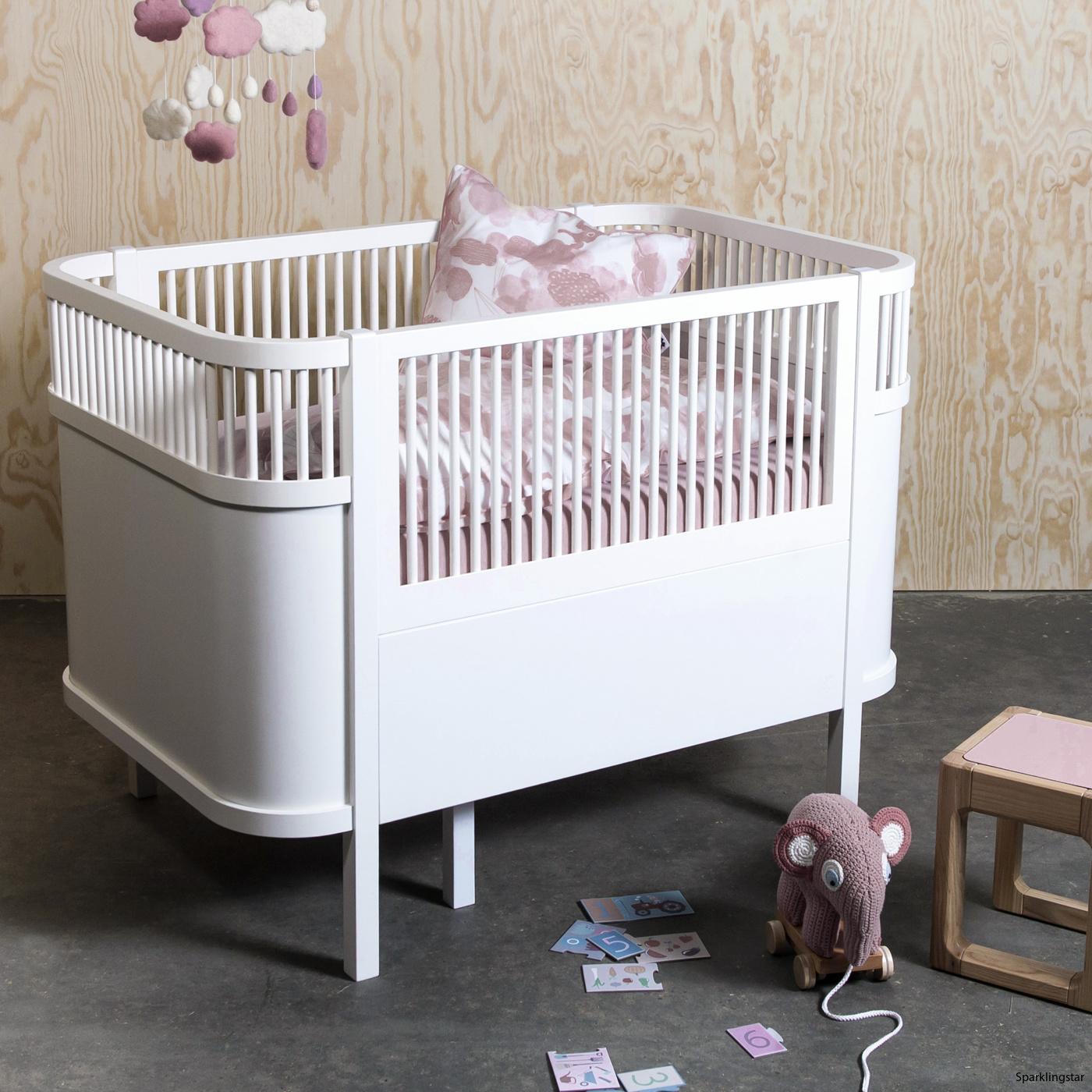 sebra Baby Och Juniorsäng (Pastell Rosa)