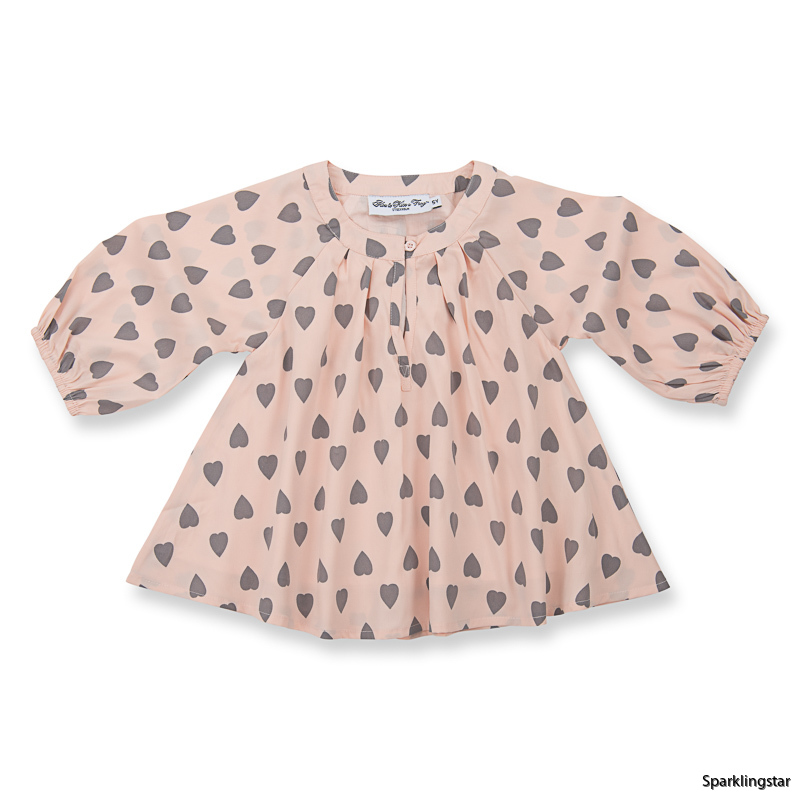 How to Kiss a Frog Electra Blouse Powder Heart