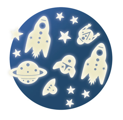 Djeco Wall Sticker Mission Space - Djeco Wall Sticker Mission Space