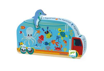 Djeco Siluettepussel Aquarium - Djeco Siluettepussel Aquarium
