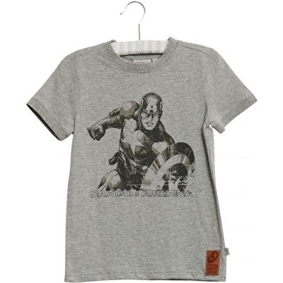 Wheat T-shirt Captain America - Wheat T-shirt Captain America ( Storlek 2 år )