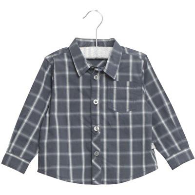 Wheat Shirt Olof Greyblue - Wheat Shirt Olof Greyblue ( Storlek 12 mån )