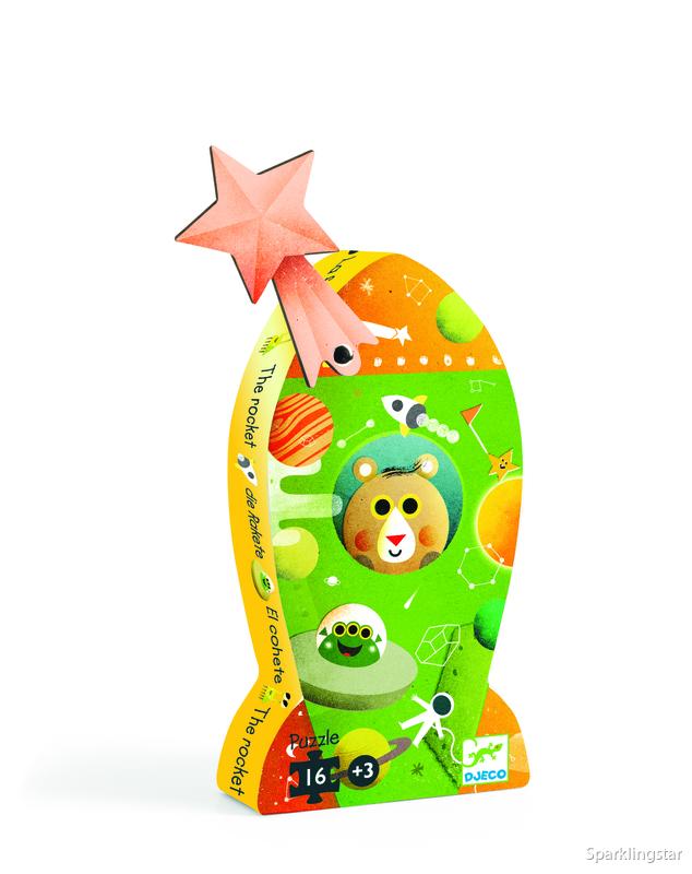 Djeco Siluettepussel Rocket