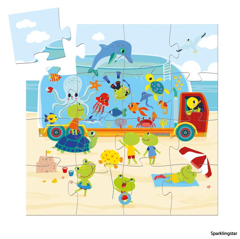 Djeco Siluettepussel Aquarium