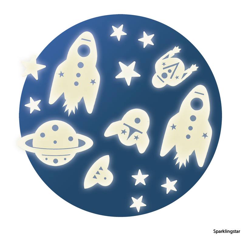 Djeco Wall Sticker Mission Space