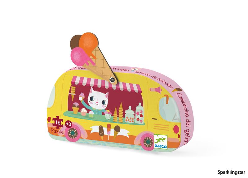 Djeco Siluettepussel Ice Cream Truck