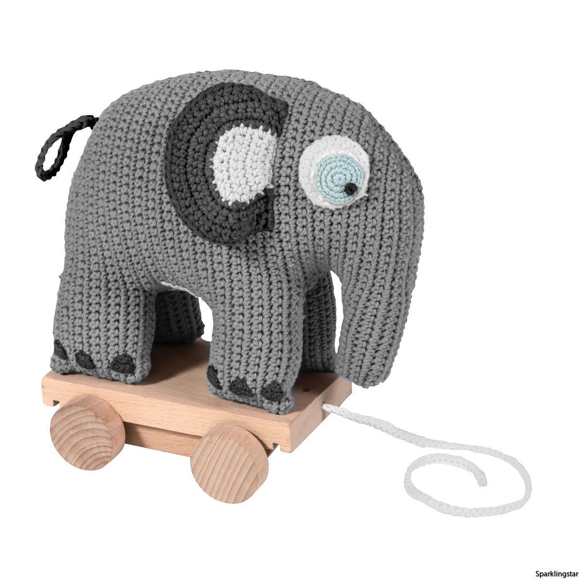 sebra Dragdjur Virkad Elefant ( Grå )