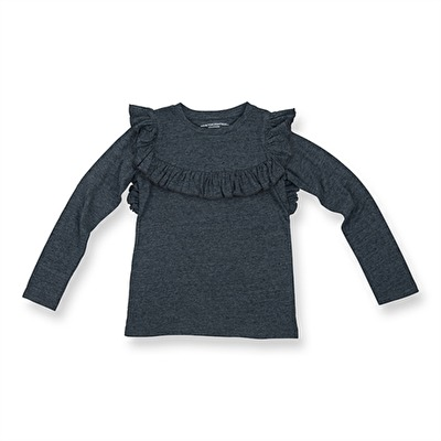 How To Kiss-a Frog Frill Jumper Dark Grey - How To Kiss-a Frog Frill Jumper Dark Grey ( Storlek 3 år )