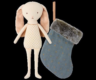 Maileg Bunny Angel In Stocking Blue - Maileg Bunny Angel In Stocking Blue