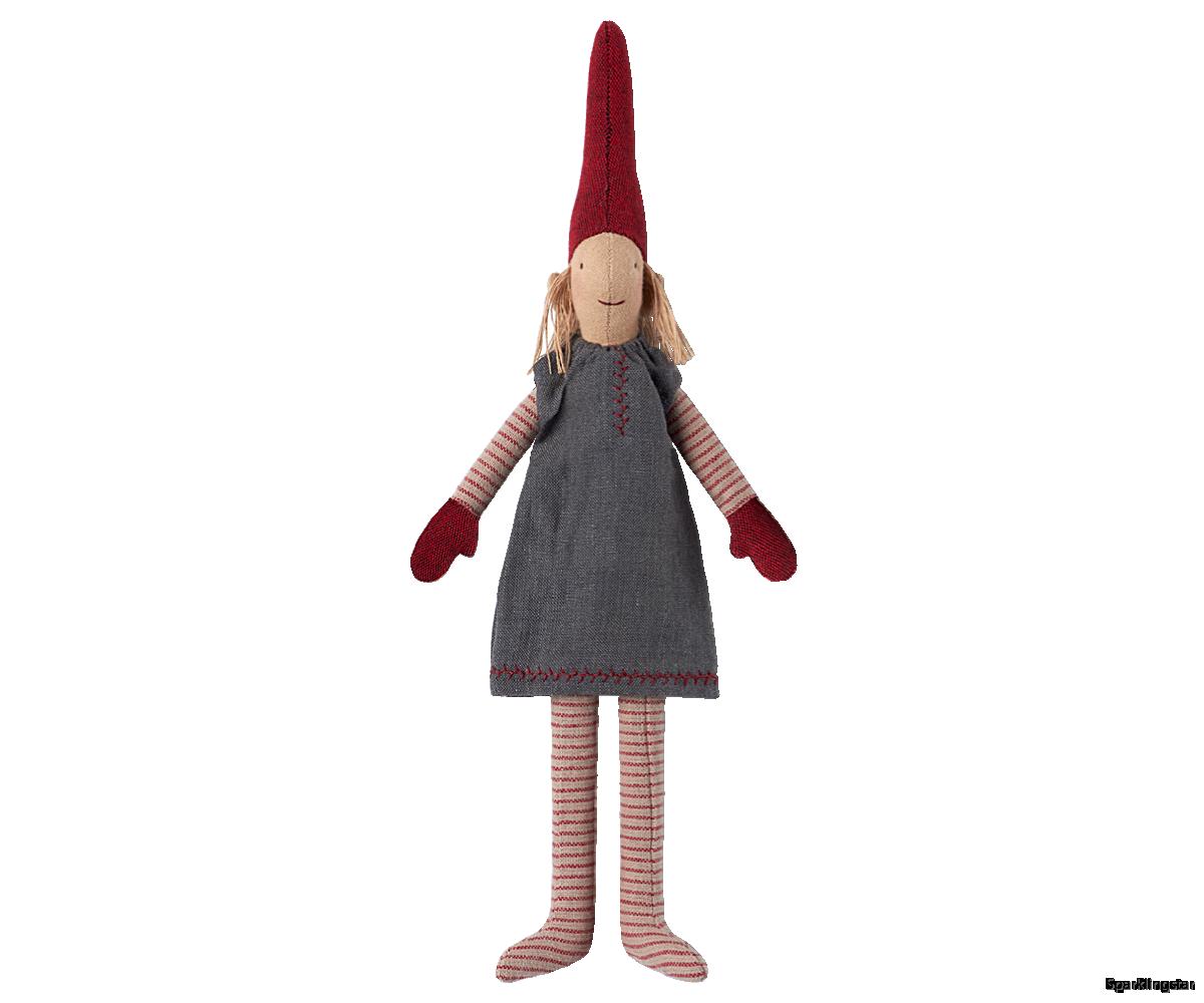 Maileg Mini Pixy Grey Skirt 2017