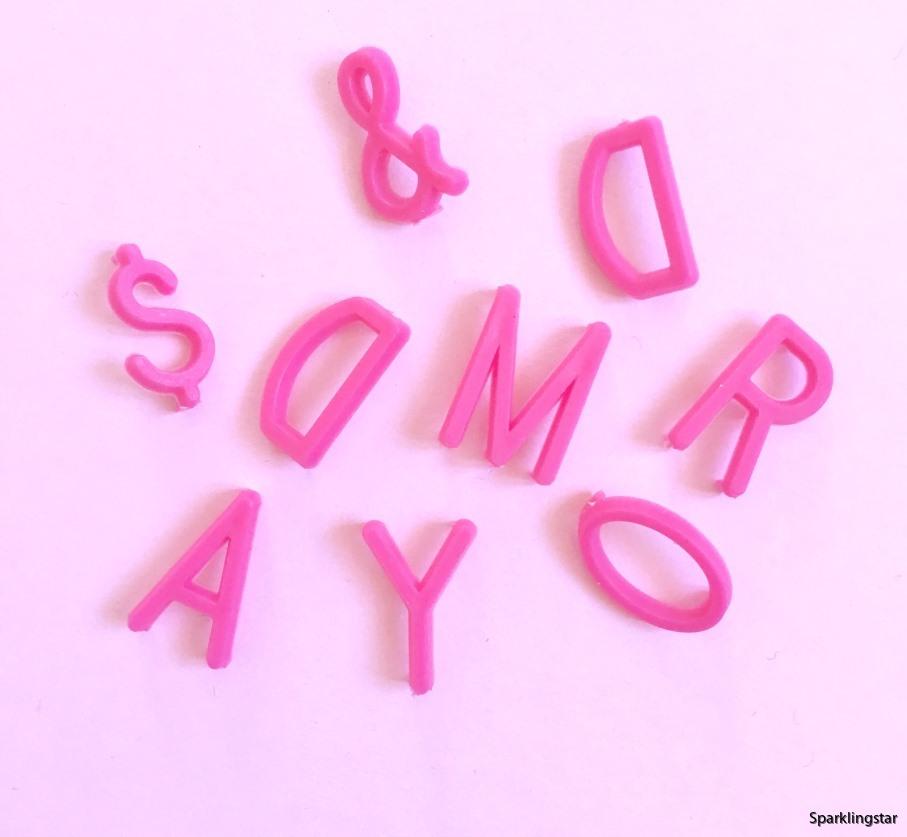 Omm Design Letters Pink