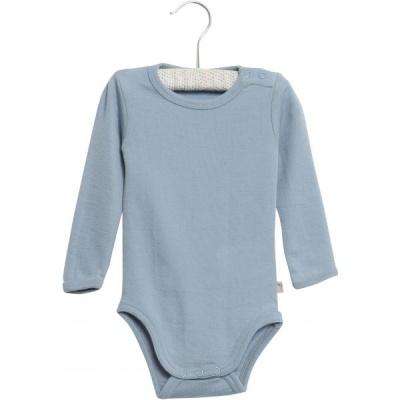 Wheat Body Plain Wool Ls Blue - Wheat Body Plain Wool Ls Blue ( Storlek 3 mån )