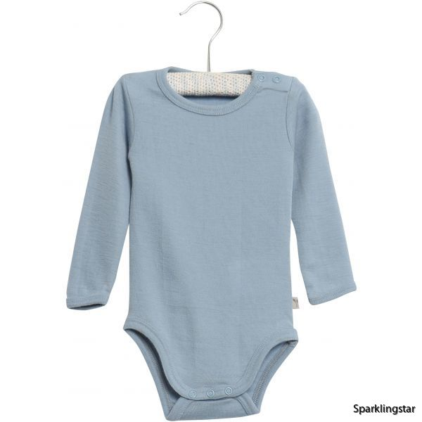 Wheat Body Plain Wool Ls Blue