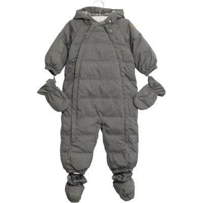 Wheat Down Baby Suit Melange Grey - Wheat Down Baby Suit Melange Grey ( Storlek 6 mån 68 )