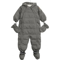 Wheat Down Baby Suit Melange Grey
