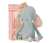 Maileg Circus Friends Elephant With Hat Blue